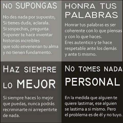 NO SUPONGAS HONRA TUS PALABRAS HAZ SIEMPRE LO MEJOR NO TOMES NADA PERSONAL